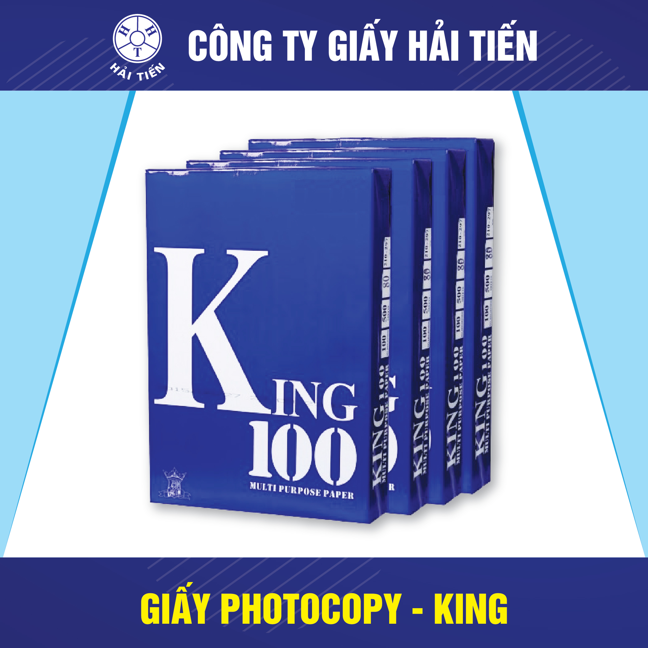 Giấy Photocopy King 100